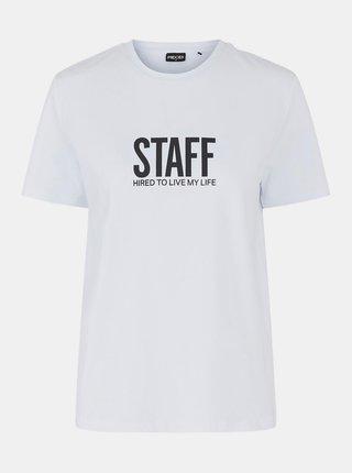 Bílé tričko s potiskem Pieces
