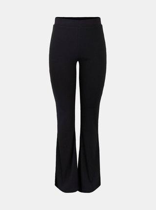 Černé flared fit kalhoty Pieces Molly