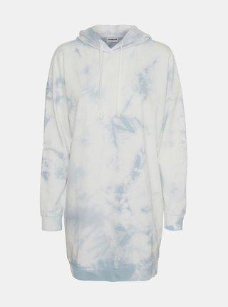 Modro-bílé vzorované mikinové šaty Noisy May Ilma