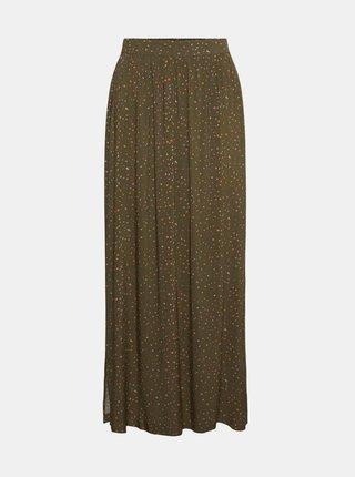 Kaki vzorovaná maxi sukňa Noisy May Fiona
