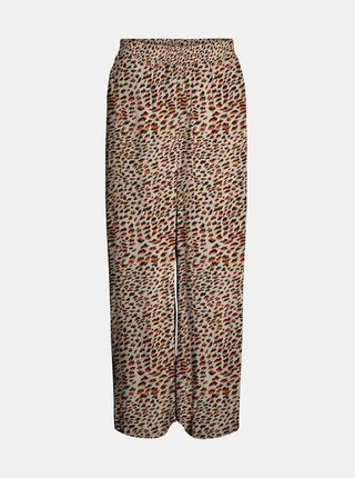 Béžové vzorované zkrácené kalhoty Noisy May Fiona