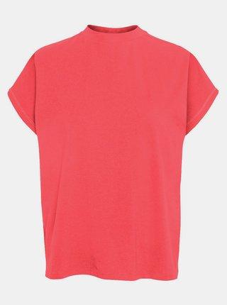 Korálové volné basic tričko Noisy May Hailey