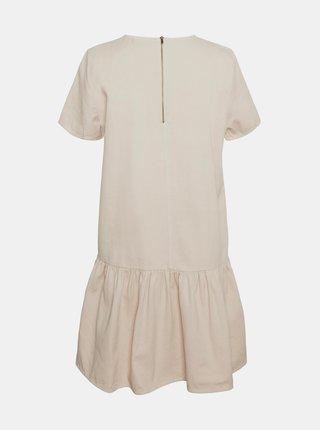 Béžové volné šaty Noisy May Emilia