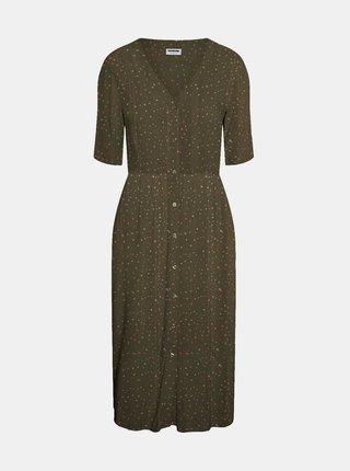 Kaki vzorované šaty Noisy May Fiona