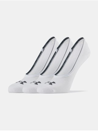 Ponožky Under Armour Essential LOLO Liner 3 Pk - bílá