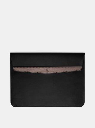Černý obal na MacBook z pravé kůže Nox MacBook 13 BeWooden
