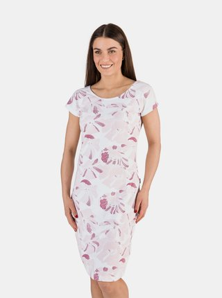 Svetloružové dámske kvetované šaty SAM 73