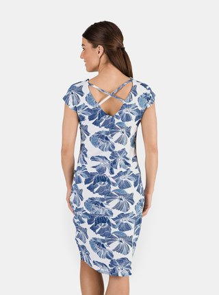 Modré dámske kvetované šaty SAM 73