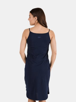Tmavomodré dámske šaty so zaväzovaním SAM 73