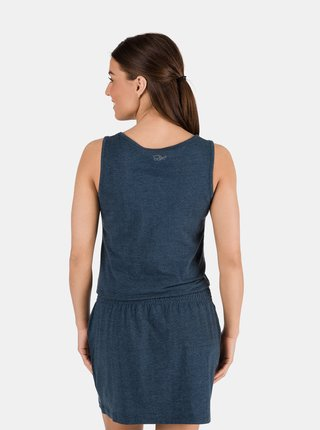 Tmavě modré dámské šaty se vzorem SAM 73