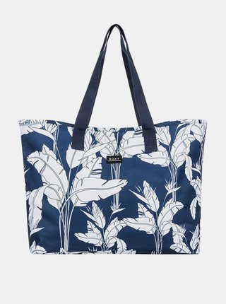 Roxy WILDFLOWER PRINTED MOOD INDIGO FLYING FLOWERS S dámská brašna - modrá