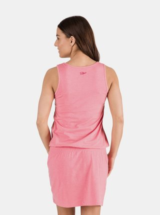 Růžové dámské šaty se vzorem SAM 73