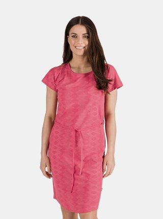 Ružové dámske vzorované šaty so zaväzovaním SAM 73