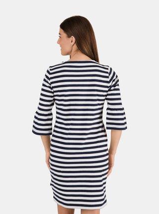 Bílo-modré dámské pruhované šaty SAM 73