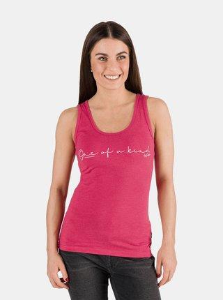Růžové dámské tílko s nápisem SAM 73