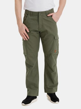 Kaki pánske nohavice s vreckami SAM 73