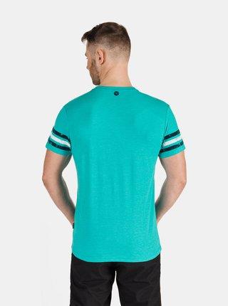Tyrkysové pánské tričko s potiskem SAM 73