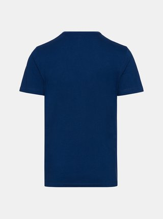 Tmavě modré pánské tričko s knoflíky SAM 73