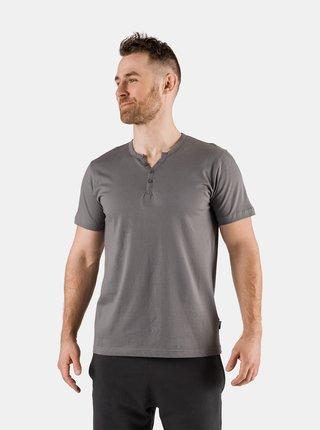 Šedé pánske tričko s gombíkmi SAM 73