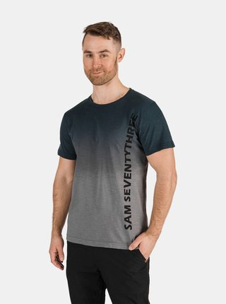 Tmavě šedé pánske tričko s nápisom SAM 73