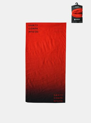 Červená multifunkčná šatka SAM 73