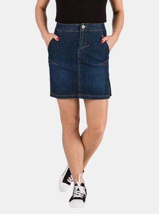 Tmavě modrá dámská džínová pouzdrová sukně SAM 73