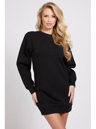 Guess černé mikinové šaty Front Logo