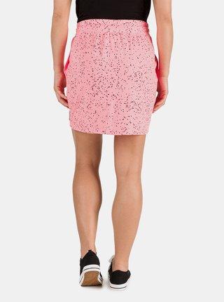 Ružová dámska vzorovaná sukňa SAM 73