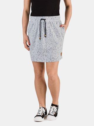 Svetlošedá dámska vzorovaná sukňa SAM 73