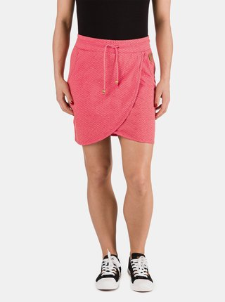 Ružová dámska sukňa so zaväzovaním SAM 73