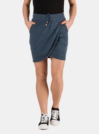 Tmavě modrá dámská sukně se zavazováním SAM 73