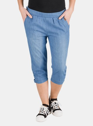 Modré dámské džínové 3/4 kalhoty SAM 73