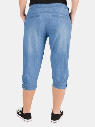 Modré dámske rifľové 3/4 nohavice SAM 73