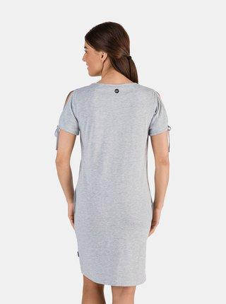 Svetlošedé dámske šaty s potlačou SAM 73