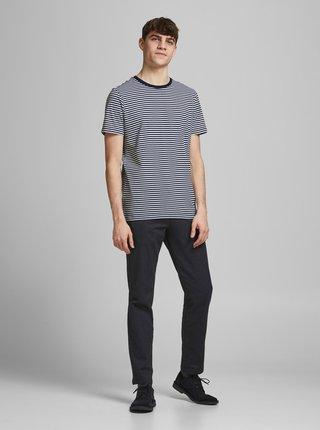 Tmavomodré pruhované tričko Jack & Jones Track