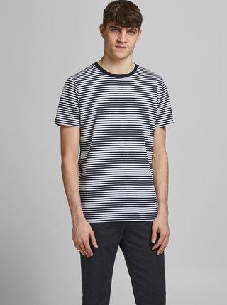 Tmavě modré pruhované tričko Jack & Jones Track