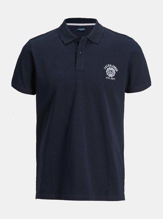 Tmavě modré polo tričko Jack & Jones Lock