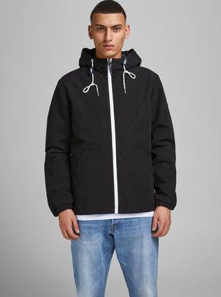 Černá lehká bunda s kapucí Jack & Jones Luke