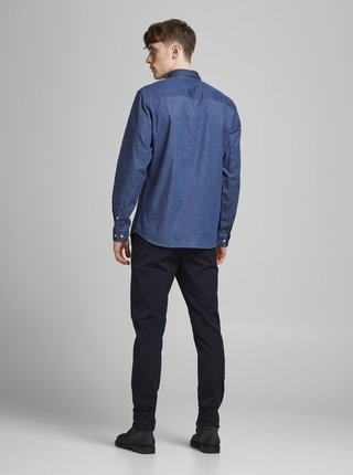Modrá rifľová košeľa Jack & Jones