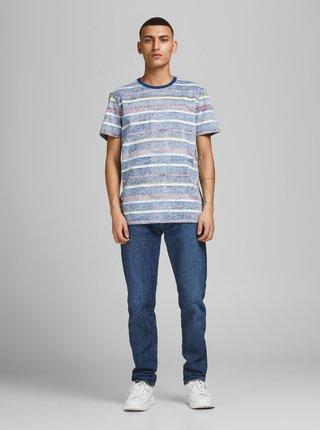 Modré pruhované tričko Jack & Jones Timm