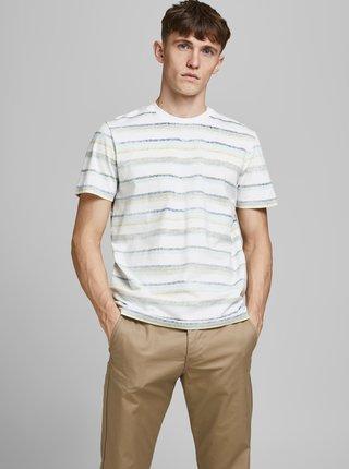 Biele pruhované tričko Jack & Jones Timm