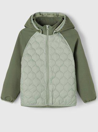 Zelená dětská prošívaná bunda name it Mana