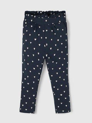 Tmavě modré holčičí vzorované kalhoty name it Dagmar