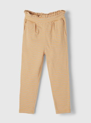 Žluté holčičí pruhované kalhoty name it Dagmar