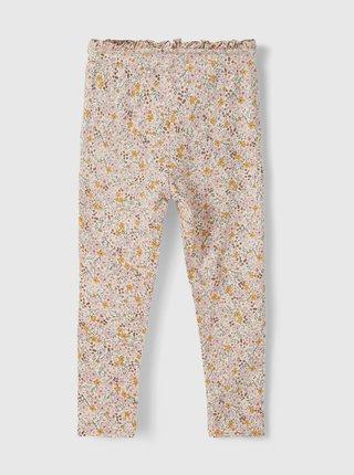 Krémové holčičí květované kalhoty name it Dagmar