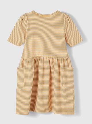 Žlté dievčenské pruhované šaty name it Dagmar