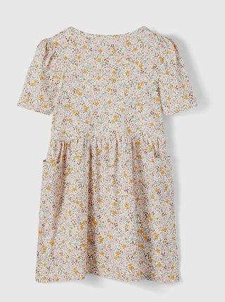 Krémové holčičí květované šaty name it Dagmar