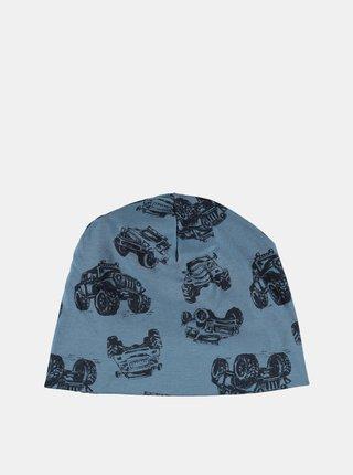 Modrá klučičí vzorovaná čepice name it Marlow
