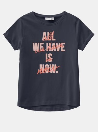 Tmavomodré dievčenské tričko s potlačou name it Vix