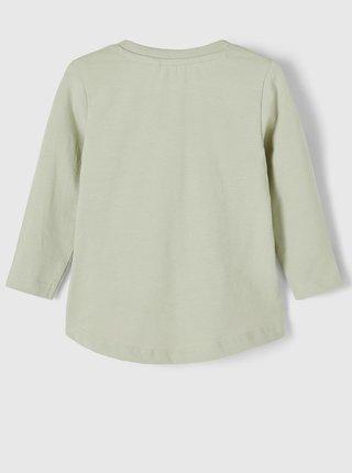 Zelené dievčenské tričko s potlačou name it Daisi